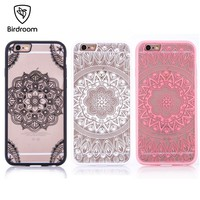 Birdroom Phone Case For iPhone 7 8 Plus iPhone 5S Case Luxury Girly Lace Flowers TPU Cover For iPhone X 10 iPhone 6 6s Plus Case
