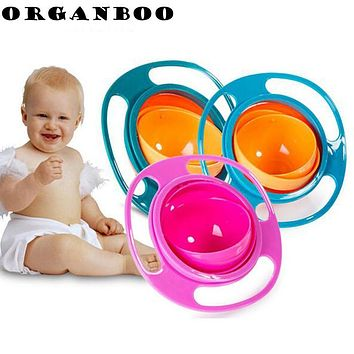 ORGANBOO 1PC Creative Dinnerware Design 360 Rotational Inverted Plate Kid Toys Dishes Child Tableware Non Spill Food Plate