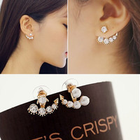 The birth of the beauty of south Korean television dramas with Sarah  seul set auger pearl earrings for woman