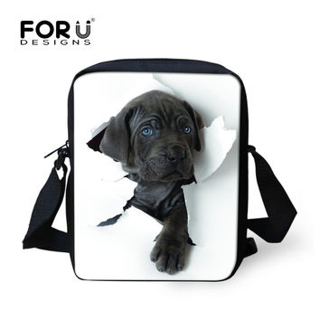 FORUDESIGNS Hot 3D Animal Women Messenger Bags Cat Dog Head Cross-body Travel Funny Bags Ladies Small Bolsa Feminina Sac A Main