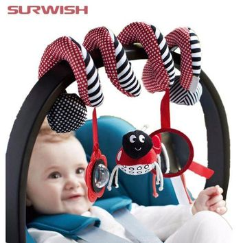 DCCKFS2 Surwish Cute Infant Babyplay Baby Toys Activity Spiral Bed & Stroller Toy Set Hanging Bell Crib Rattle Toys For Baby