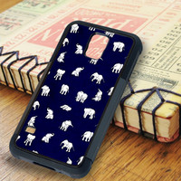 White Baby Elephant Pattern Samsung Galaxy S5 Case