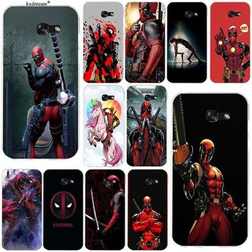 Soft TPU Phone Cases Cute Deadpool Fun Art Cover for Samsung Galaxy Note 2 3 4 5 8 S2 S3 S4 S5 Mini S6 S7 S8 S9 Edge Plus Coque