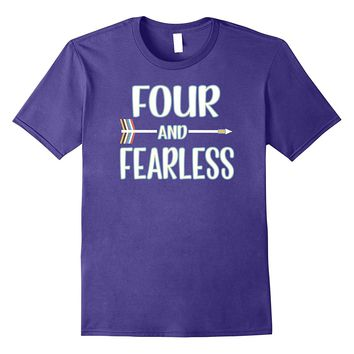 Fourth Birthday T-Shirt Tribal Four and Fearless