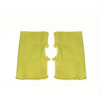 12 Pairs Unisex Fingerless Wrist Guards - Yellow