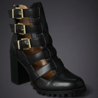 Strappy Buckle Bootie