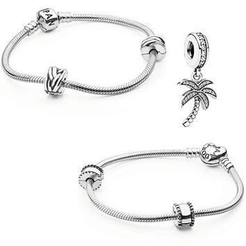 Authentic Pandora Jewelry - Iconic Bracelet Sparkling Palm Tree (Choose Style)