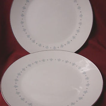 Mikasa, China Dinnerware Blue Elegance Pattern #6223 set 2 dinner plate