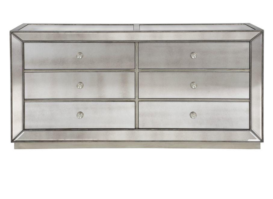 Omni mirrored 6 drawer chest chests from z gallerie home for Bedroom furniture z gallerie