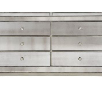 Omni Mirrored 6 Drawer Chest | Chests & Dressers | Bedroom | Furniture | Z Gallerie