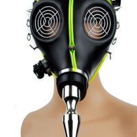 Cyber Punk Spike UV Tubing Gas Mask