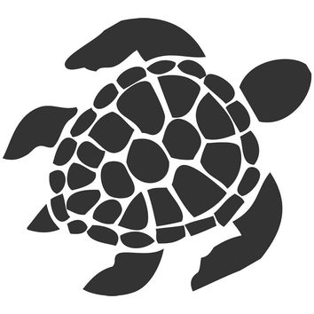 Sea Turtle Car Window Vinyl Decal Sticker