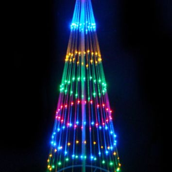 9' Multi-Color LED Light Show Cone Christmas Tree Lighted Yard Art Decoration