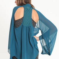 Moonlit Beauty Crochet Racerback Blouse - $19.99 : ThreadSence.com, Your Spot For Indie Clothing & Indie Urban Culture