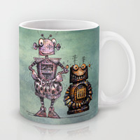 Two Funny Robots Mug by Paul Stickland For StrangeStore