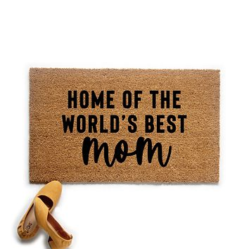 World's Best Mom Doormat