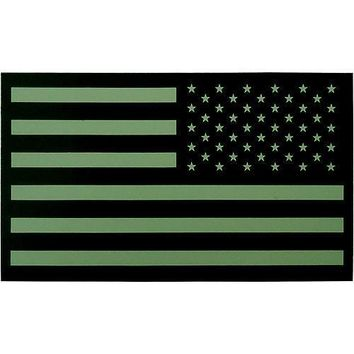 Subdued Infrared U.S. Flag Patch - Reverse