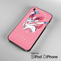 Pokemon X Y SYLVEON Pink Cute Kawaii Polka Dot iPhone 4S 5S 5C 6 6Plus, iPod 4 5, LG G2 G3, Sony Z2 Case