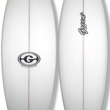 6'0 White Fish Surfboard