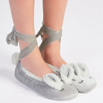 Oysho velvet rabbit bandage Home Furnishing shoes