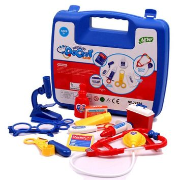 SUKIToy Pretend play funny Kid's Soft doctor box toys medical kit classic toys Simulation medicine gift for boys and girls PL076