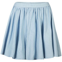 AX Paris Women's Denim Skater Skirt - Denim Blue 			Womens Clothing | TheHut.com