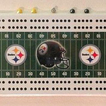 Pittsburgh Steelers NFL Licensed Cribbage Board FREE US SHIPPING