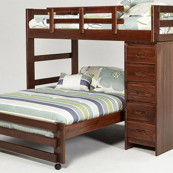 Hutchinson Twin over Full Storage Loft Bed