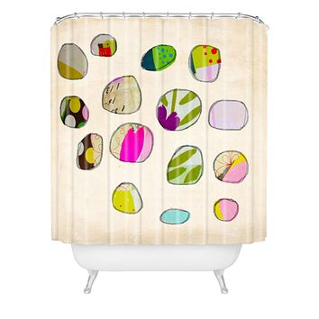 Natalie Baca Circles In Spring Shower Curtain