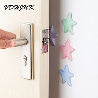 2017 starfish Self Adhesive Silicone Wall Protectors Door Handle Bumpers