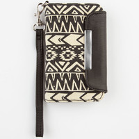 T-Shirt & Jeans Tribal Print Iphone Wallet Black/White One Size For Women 24210012501