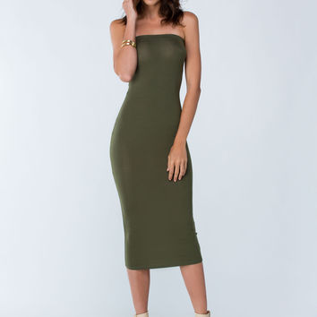Keep It Simple Tube Midi Dress GoJane.com