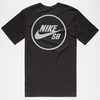 Nike Sb Reflective Mens T-Shirt Black  In Sizes