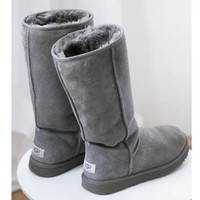 Boys & Men UGG Women Fashion Wool Snow Boots simple high boots shoes