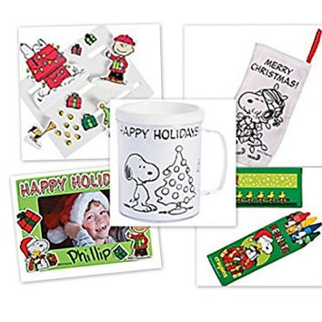 Peanuts Character's Christmas Activity Bundle Set of 5
