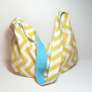 Hobo Purse - Hobo Bag - Hobo Crossbody - Summer Bag - Chevron Hobo Bag - Shoulder Purse - Sling Bag - Slouchy Bag - Hobo Sling Bag - Purse