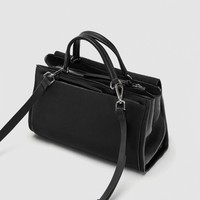 COMBINED LEATHER CITY BAG