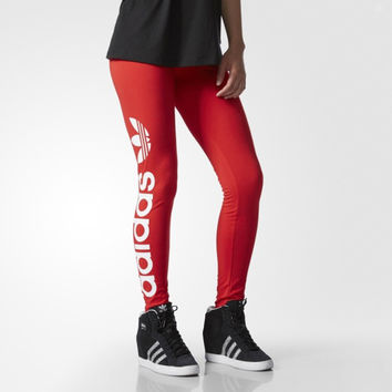 """ Adidas "" Like Fashion Print Exercise Fitness Gym Yoga Red Running Leggings Sweatpants"