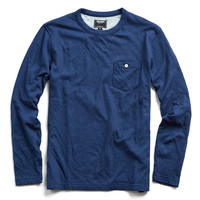 Double Face Jersey Long Sleeve Tee in Indigo