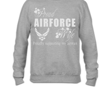 air force wife - Crewneck Sweatshirt