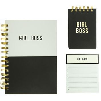Girl Boss Journal, Jotter Notepad, and Petite Journal Gift Set