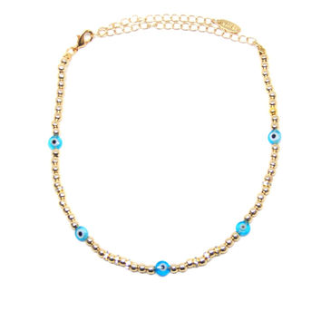Deep Sea Dive Choker in Blue and Gold
