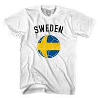 Sweden Soccer Ball T-shirt