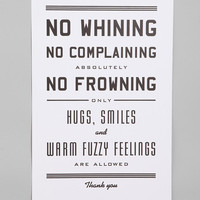 Urban Outfitters - Hammerpress No Whining Print