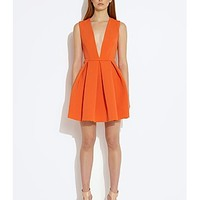 ASOS Fashion Finder | Vicious Deep Plunge Mini Dress - Mandarin Red