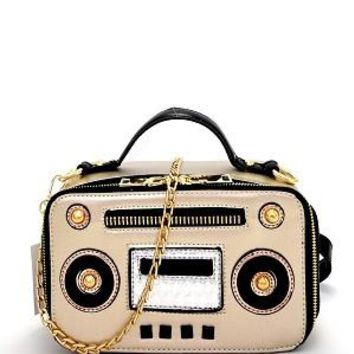 All about the Boom Box Purse Gold