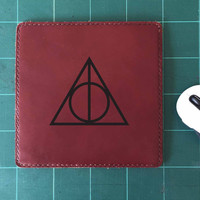 Deathly Hallows Mouse Pad Leather Harry Potter Mousepad Mouse Mat