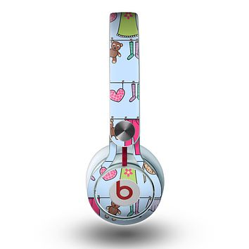 The Neon Clothes Line Pattern Skin for the Beats by Dre Mixr Headphones