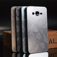 3D Diamond Aluminum Metal Water Cube + PC Material Phone Cases For Samsung Galaxy Grand Prime G530 G530H G530M G530FZ Case Cover