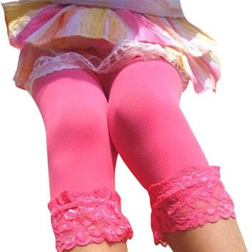 Sweet Girl's Lace Velvet Leggings Ballet Bottom Leggings Pantyhose Stocking 12 Colors for choice LL8